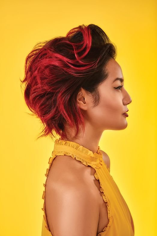"""<p>""""It's all about the color,"""" says Rodney Cutler, Ratner Artistic Director. """"Whether pastel pinks or vibrant red, this season calls for making a bold color statement."""" <br /><br /><br />Hair: Ratner Artistic Team—Rodney Cutler, Artistic Director; Steve Waldman, Technical Training Director; Sharon So, Artistic Leader; Photographer: John Harold, Creative Director</p>"""