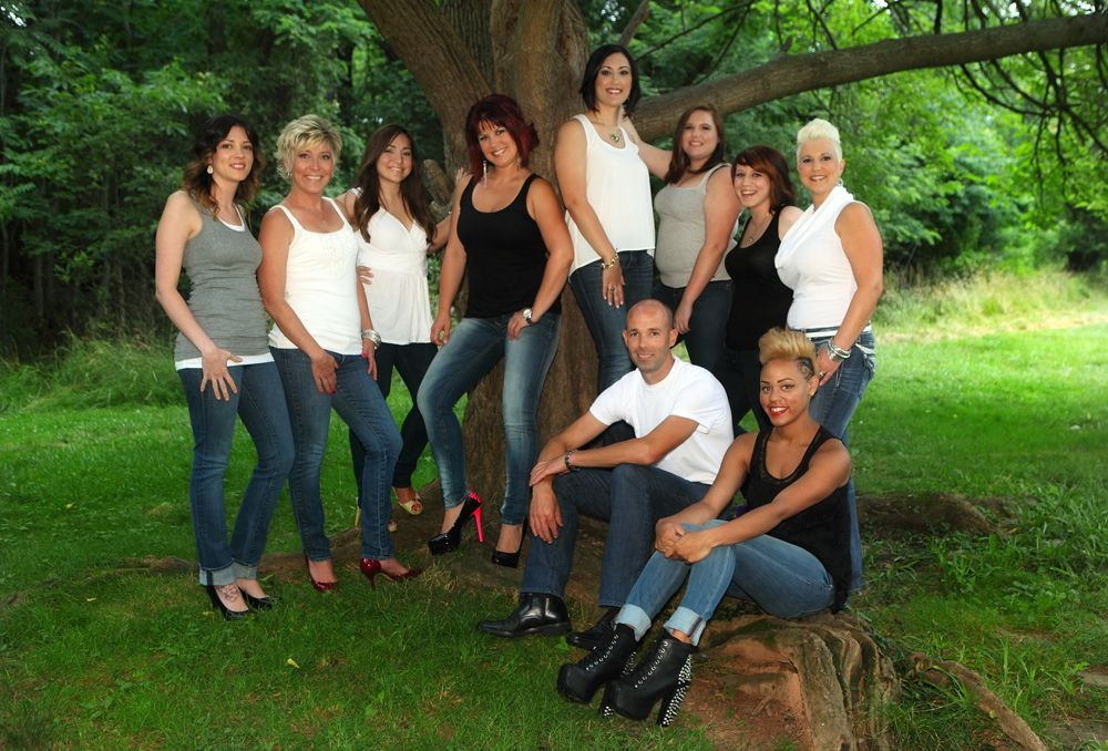 Staff of Salon Ten in Leesburg, Virginia.