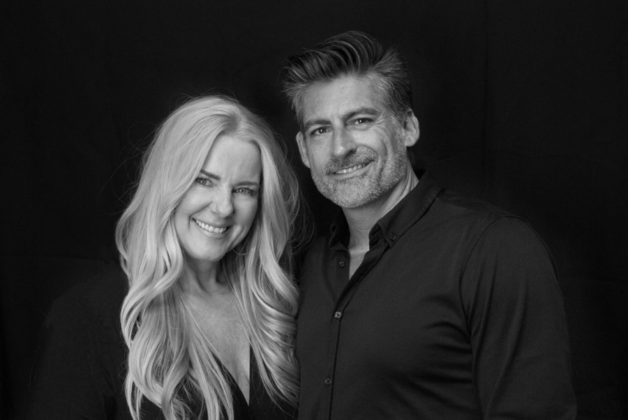 Kristy and David Arnold, owners of Salon Lujon in Orange County, California