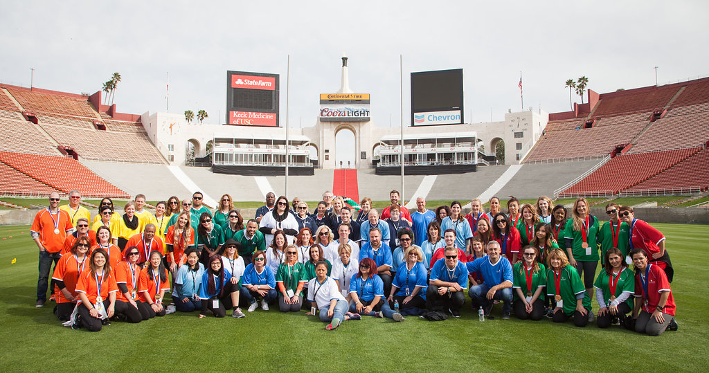 Schwarzkopf Professional's three-day Olympic themed conference, held at the world famous Los Angeles Memorial Coliseum, began with Regional Head of Henkel Beauty Care Professional North America, Stefan Mund addressing members of the corporate office, Education Managers, and Sales Representatives.