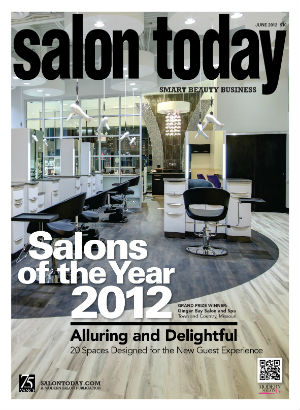 Ginger Bay Salon and Spa in Town and Country, Missouri, was last year's grand-prize SALONS OF THE YEAR winner. Which of the 20 honorees will grace this year's cover? We'll reveal in a special e-newsletter later this week....