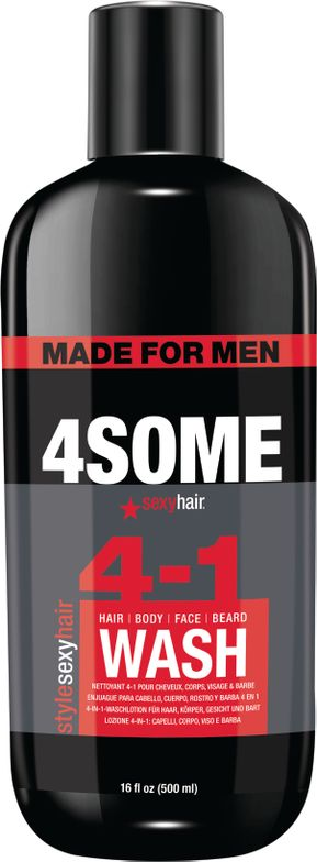 <p><strong>Guys love to use lots of different hair care products—NOT! This four-in-one wash cleanses and conditions hair, body and beard. Easy!</strong></p>