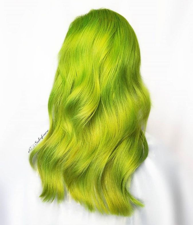 This neon green caught your attention immediately!