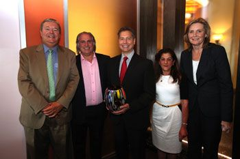 From left: Gary Winterhalter, chairman and CEO, Sally Beauty Holdings; Conair's Ken Russo, senior vice president, general merchandising manager; Alan Stockman, vice president; and Joni Bologna, director of key accounts  with Linda Voracek, group vice president, merchandising, Sally Beauty Supply.