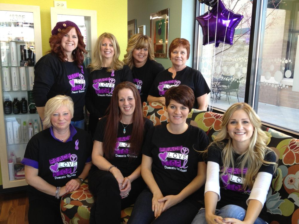 "The staff of Salon Brillare. Says owner Janet DAmato, ""Our day was fabulously successful, and we were blown away by our clients generosity. We were so happy to be a part of the fundraising efforts today, it made us feel great to reach out and help our fellow salon and spa professionals, after such a tragic event at their salon."""