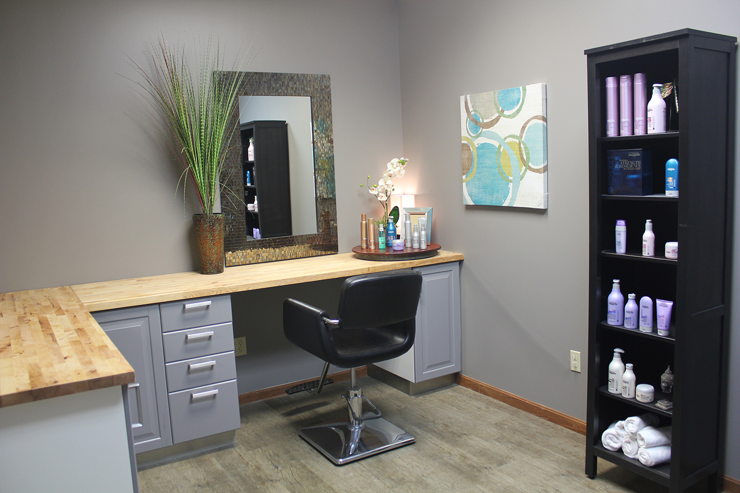 An inside look at a luxury suite at Endz Salon Studios, which was launched in March by the owners of Salon Rootz, an employee-based salon in Medina, Ohio.