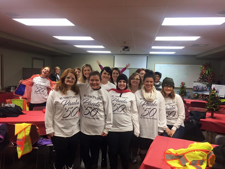 The team from Salon Allure Inc. in Huntsville, AL.