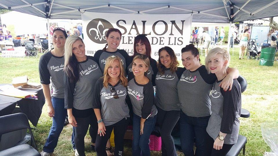 The team from Salon Fleur De Lis in Saint Louis, MO.