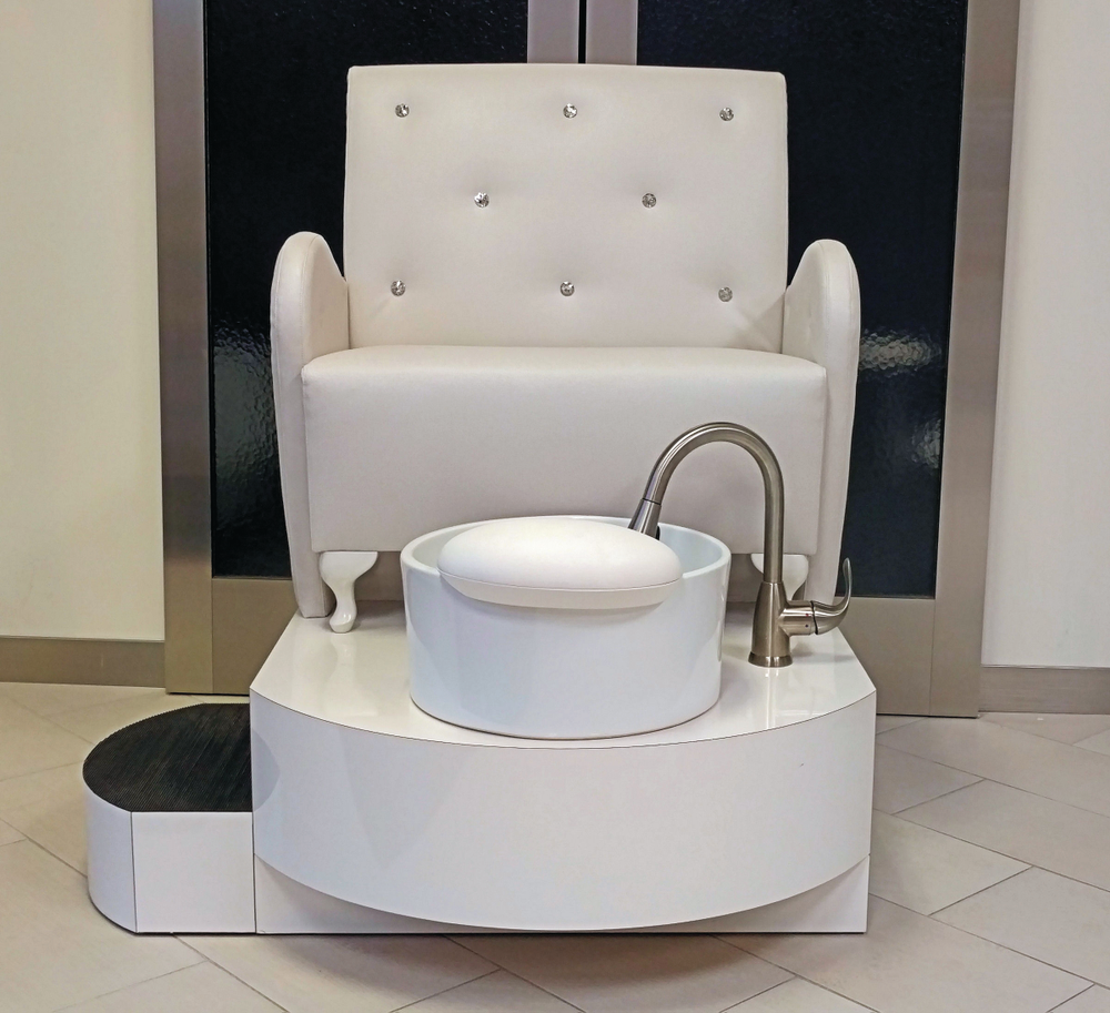 The Crystal Pedicure Bench by Salon Interiors