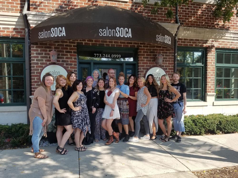 The team frm Salon Soca in Chicago, IL.
