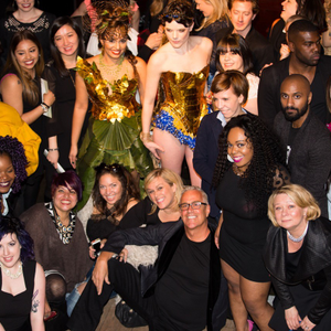 Scott Buchanan, front and center, surrounded by his team at Scott J Salons in NYC.