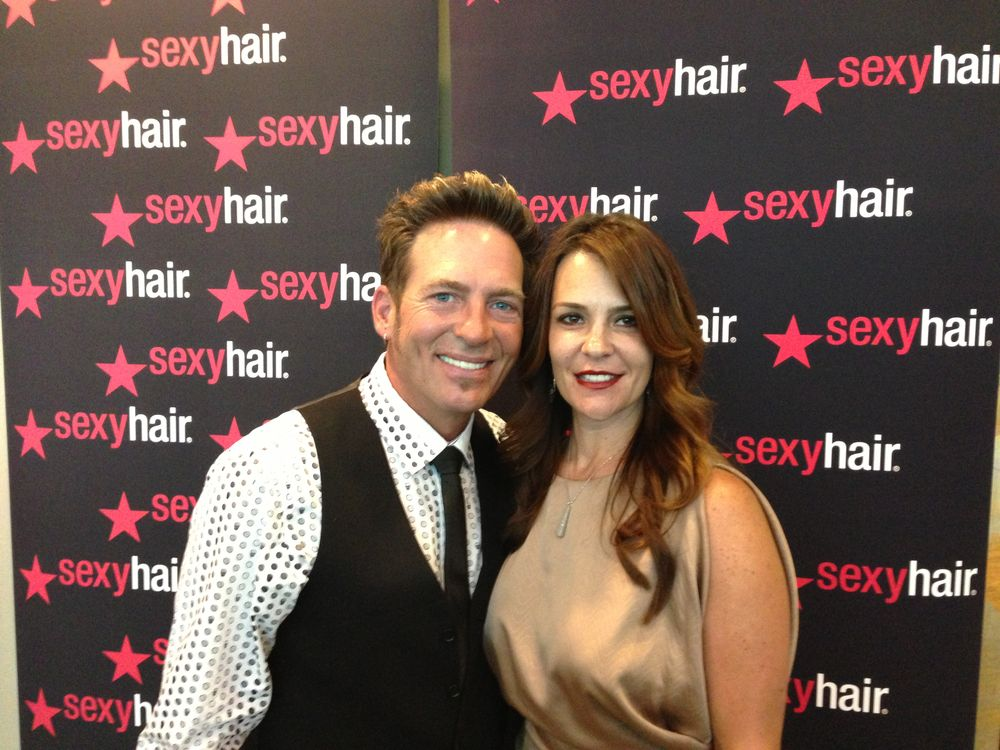 Rafe Hardy, Artistic Director of Sexy Hair, with Sloane LaMartina, Director of Communication