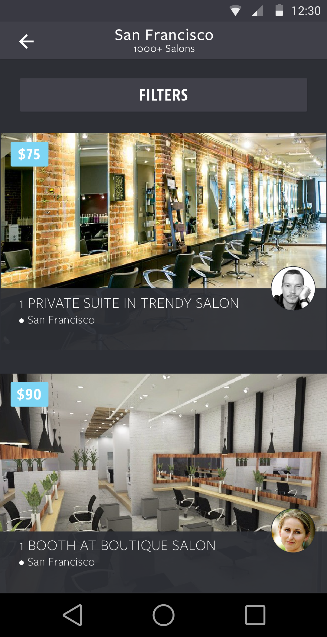 ShearShare On-Demand Salon Space Rental App