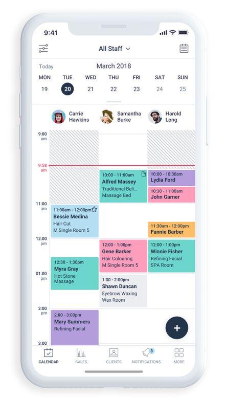 <p>Shedul.com calendar, mobile view</p>
