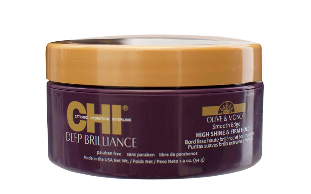 <strong>CHI Deep Brilliance Olive &amp; Monoi Smooth Edge (high shine and firm hold)</strong>