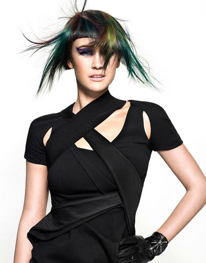 HOW-TO: Darkly Intense Peacock Highlights by Joico