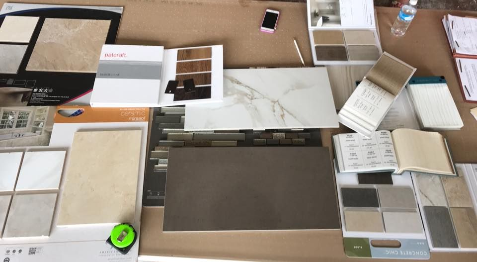 Vivian Yeh reviews swatches for in preparation for the rebuild.