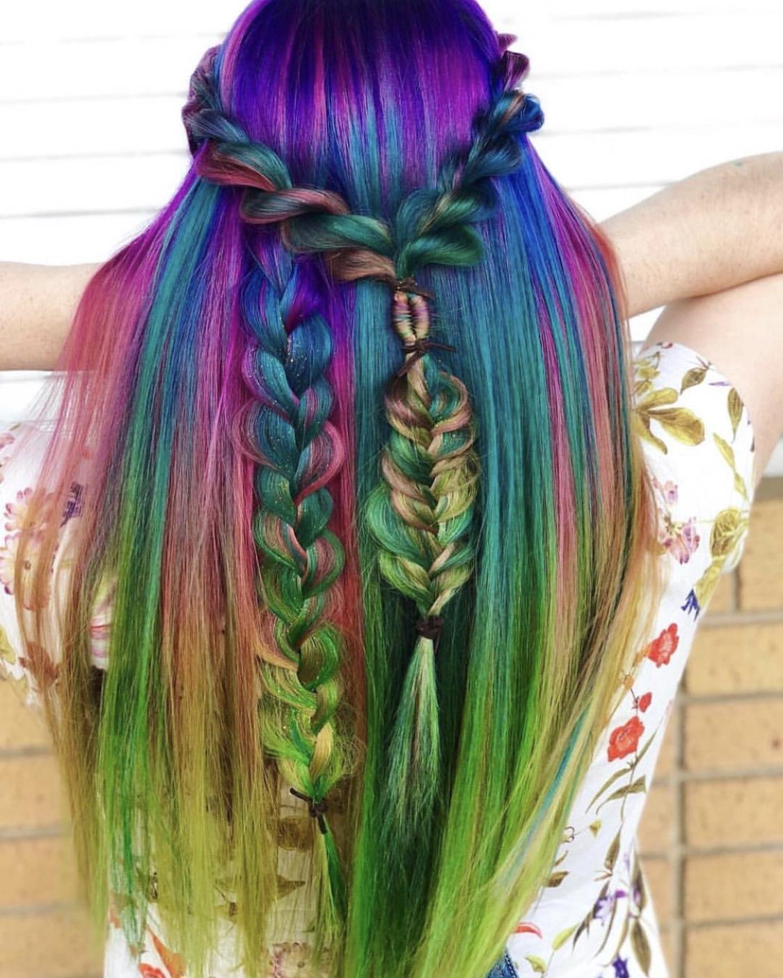 A braided, boho rainbow creation by Sydney Lopez.