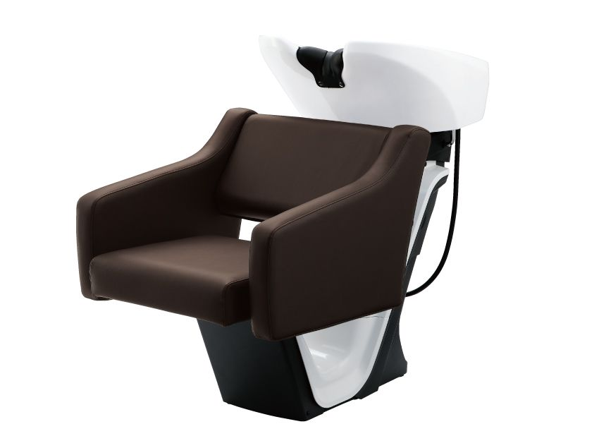 The Luxis styling chair and shampoo bowl set by Takara Belmont offer the best of both worlds--comfort and functionality, wrapping clients in four panels of luxury and featuring a semi open back and sides for easy cleaning. Aesthetically sound, the distinctive soft-edged shape of the Luxis is key to timeless style. (takarabelmont.com)