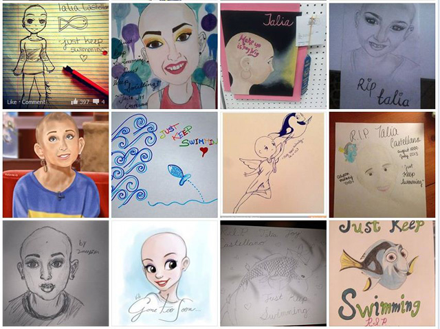 "On the Angels for Talia Facebook, hundreds of fans have posted ""fan art"" of Talia."