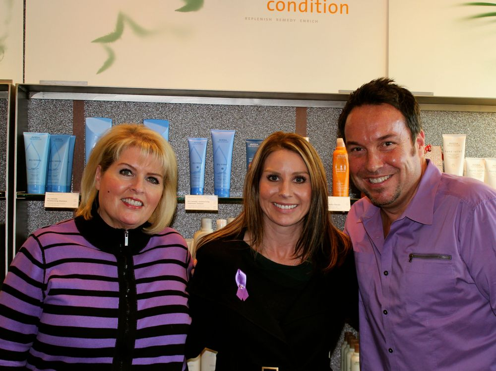 The owners of Salon Medusa with Tami Gemmell (center), the owner of Azana Salon and Spa.