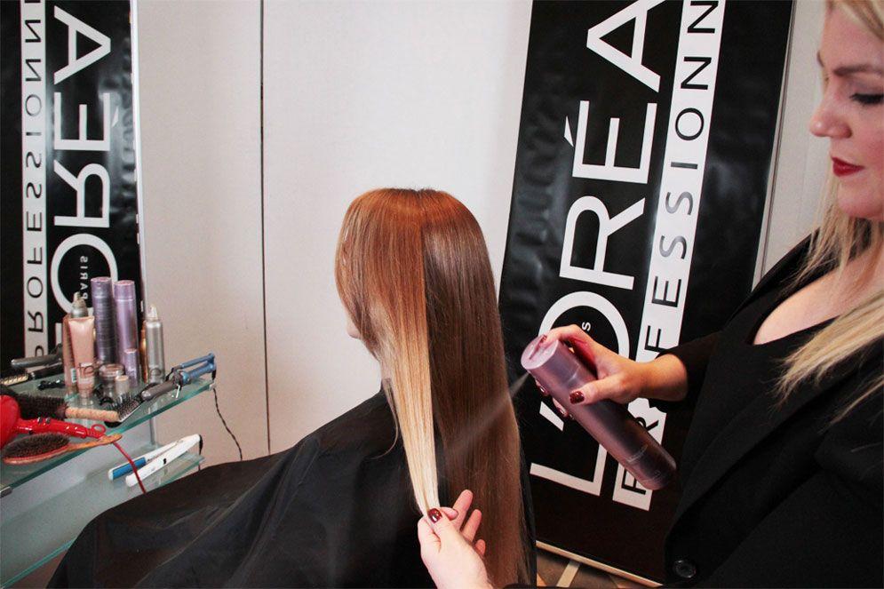 STEP 5: Slightly backcomb crown of hair.