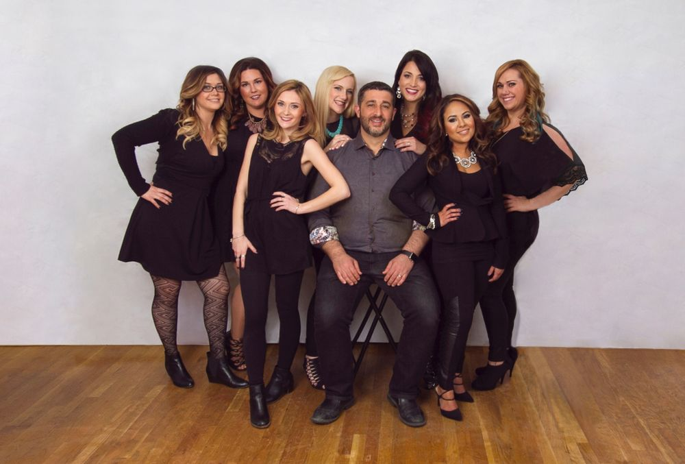 The team from Tease Hair Studio in Hudson, MA.