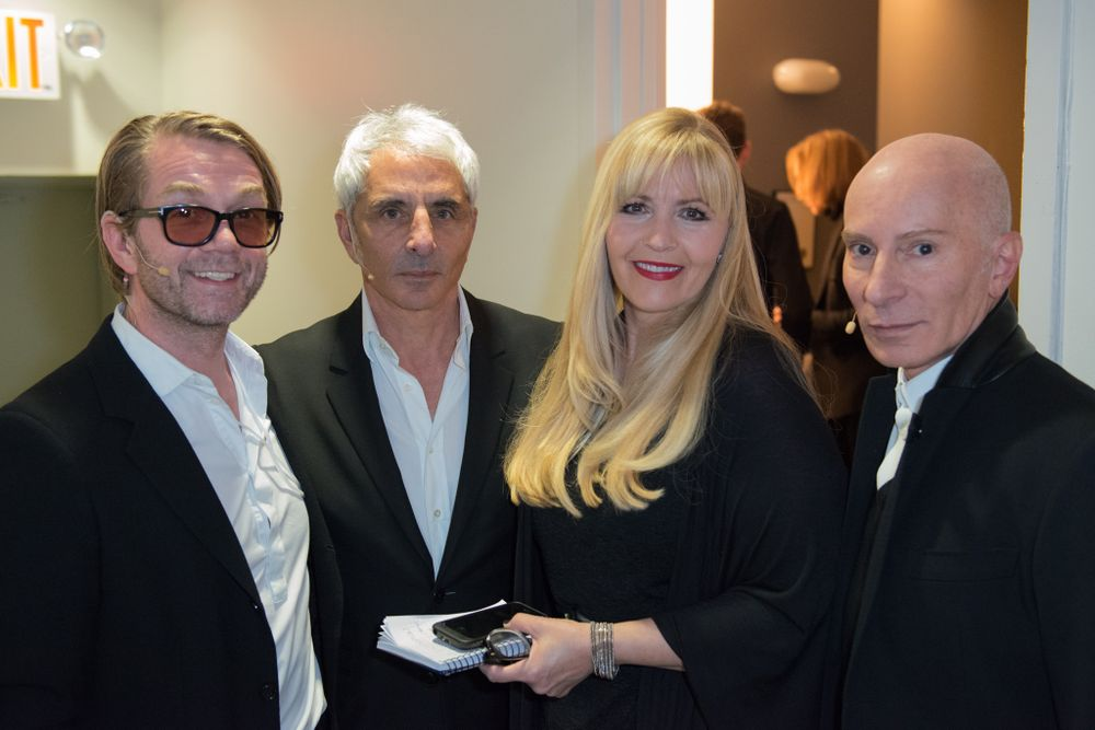 Howard McLaren, Thom Priano, MODERN's Beauty and Fashion Director Maggie Mulhern and Garren