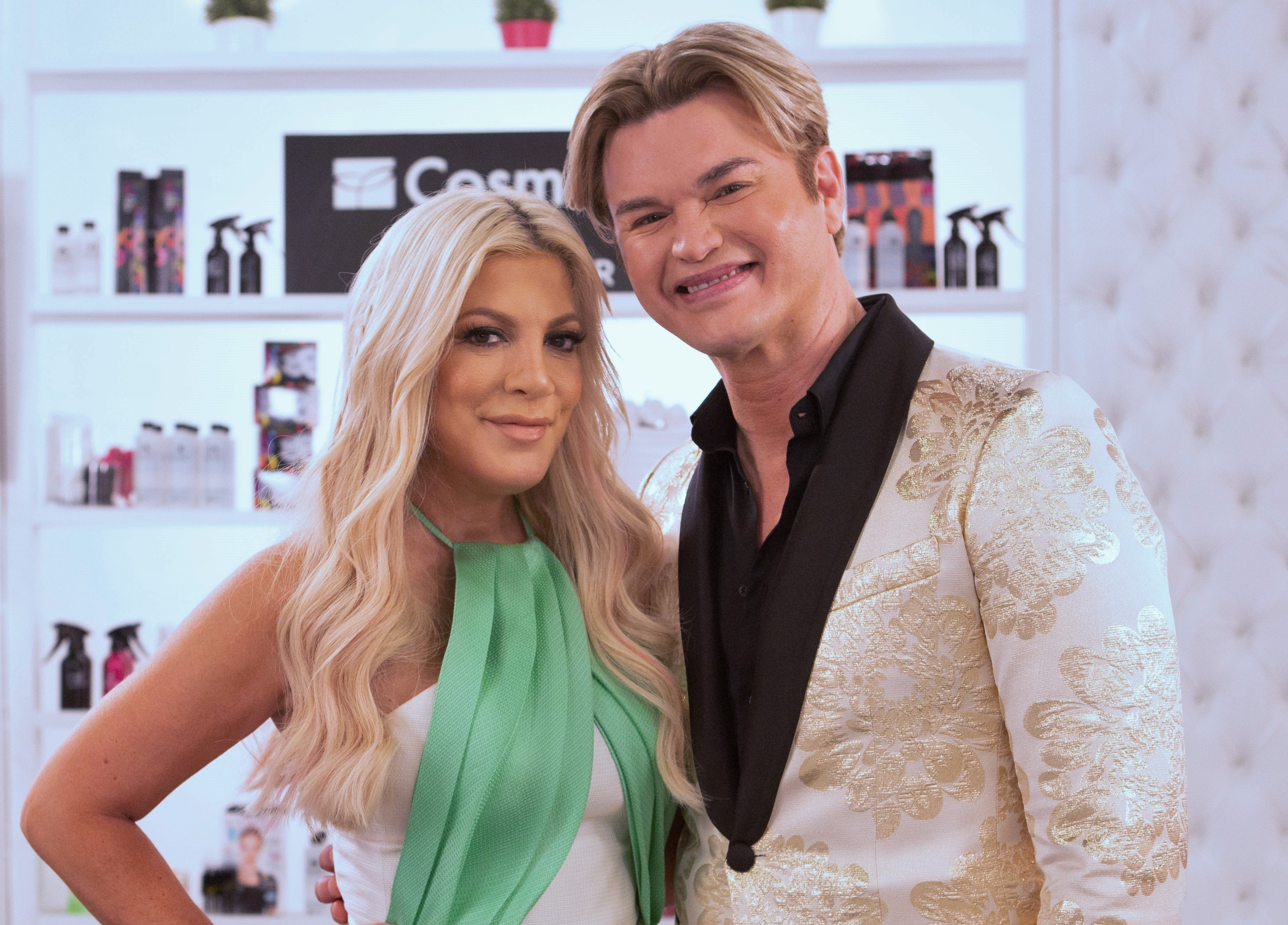 Hosts Tori Spelling and Kim Vo of The Look: All Stars The LOOK