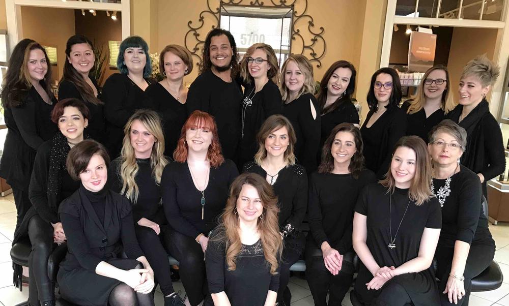 The team from Tulip Salon & Spa in Fredericksburg, VA.