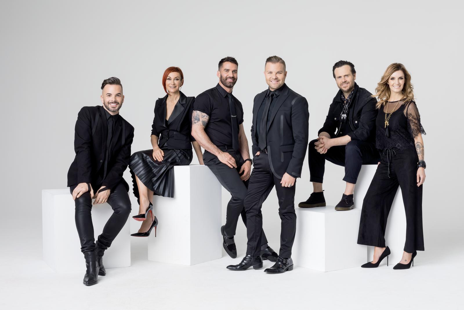 Left to right: ULTA Beauty Pro Team: Sean Godard, Sonya Dove, Ammon Carver, Nick Stenson, Carmody Homan and Danielle Keasling