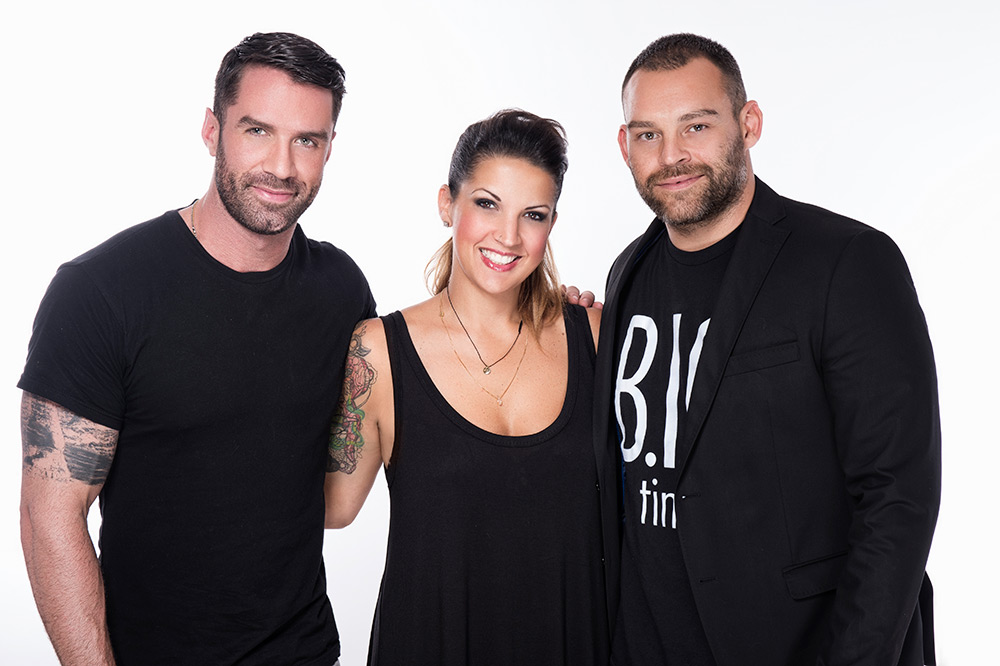 L'Anza Global Creative Team: (From left) Global Creative Director  Ammon Carver, Global Healing Color Director Leah Freeman, Global Creative Director Matt Swinny