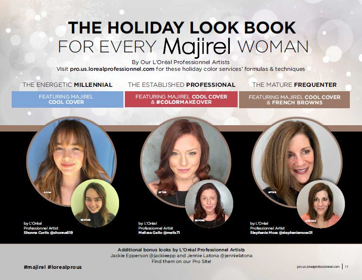 <strong>L'Oréal Professionnel Holiday Lookbook <br /></strong>