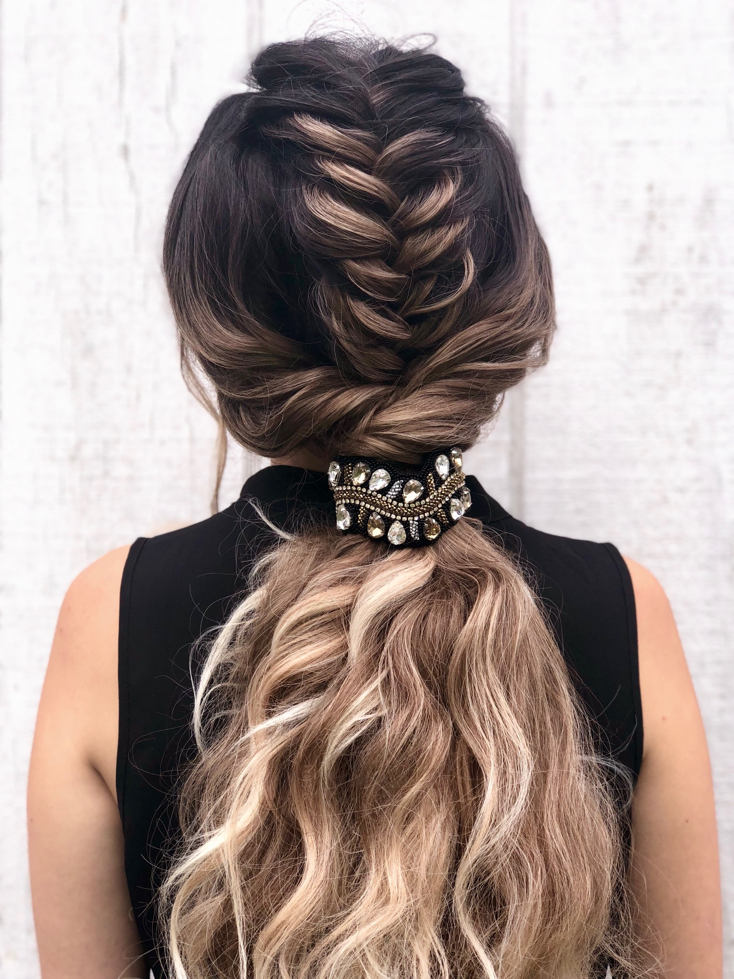How-To: Black Tie Fishtail Braid