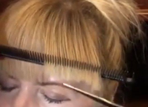 How-to cut a perfect fringe.