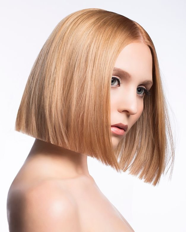 Model: Krista Session Styling: Charlie Price, Scruples Independent Creative Consultant Haircut: Katie Nielsen, Scruples Design Team Member Cutting By Design Shape: Classic Bob Haircolor: Donna Campbell, Scruples Artist Natural Level: 5 Base Color: High Definition Custom Mixing Gel Color Level 9 Neutral