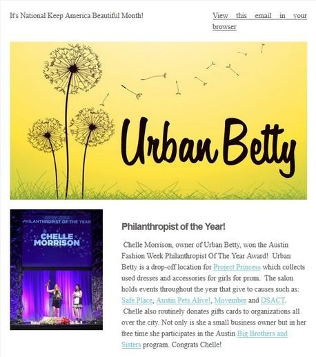 STAMP 2014: Urban Betty's E-Newsletters