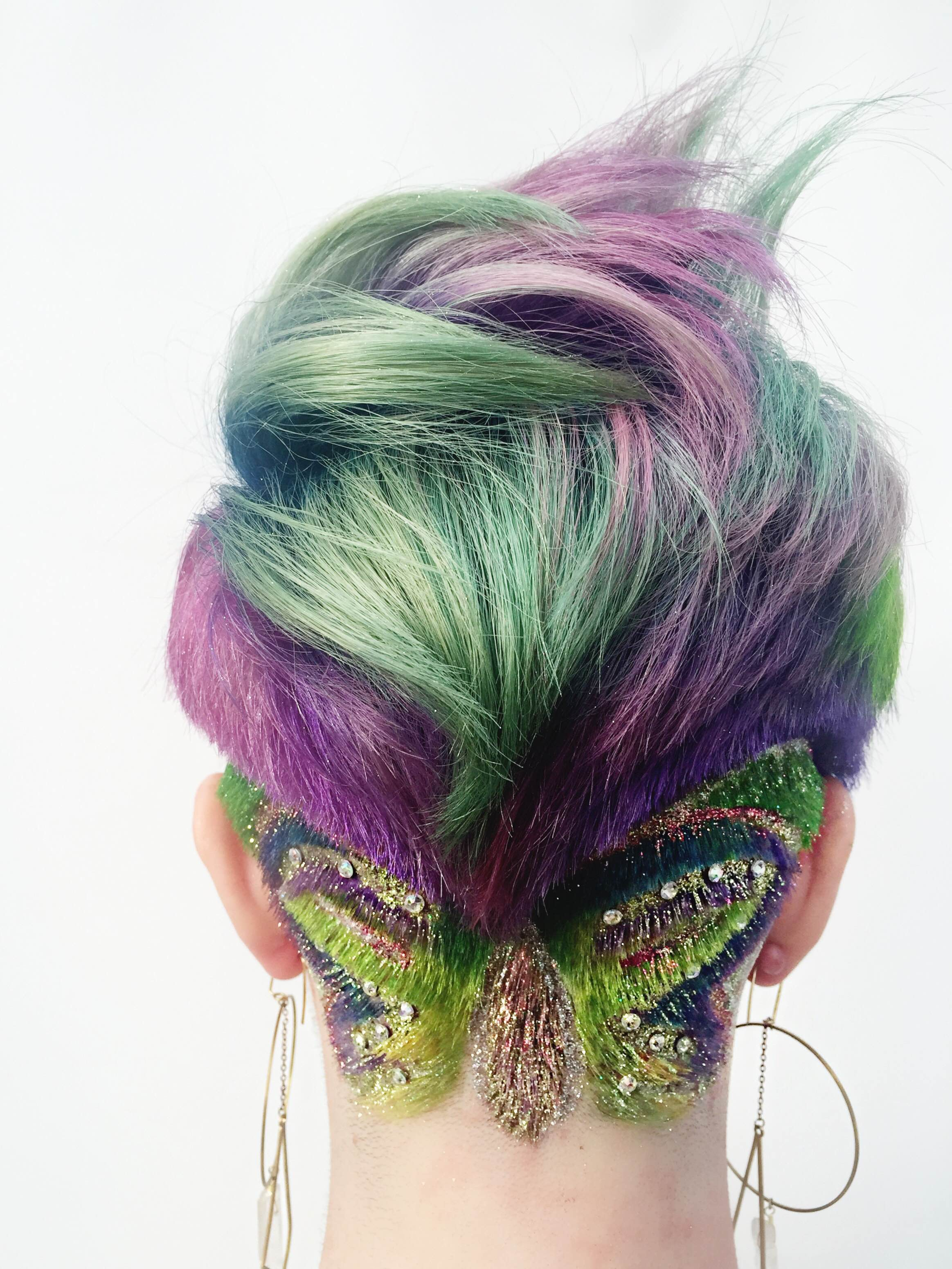 FORMULA: Vivid Color with a Butterfly Undercut
