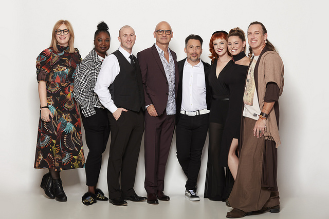 Van Council with the Van Michael team of artists presenting at the 2018 Aveda Congress.