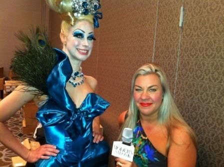 Makeup Artist Kari Kisch with a model
