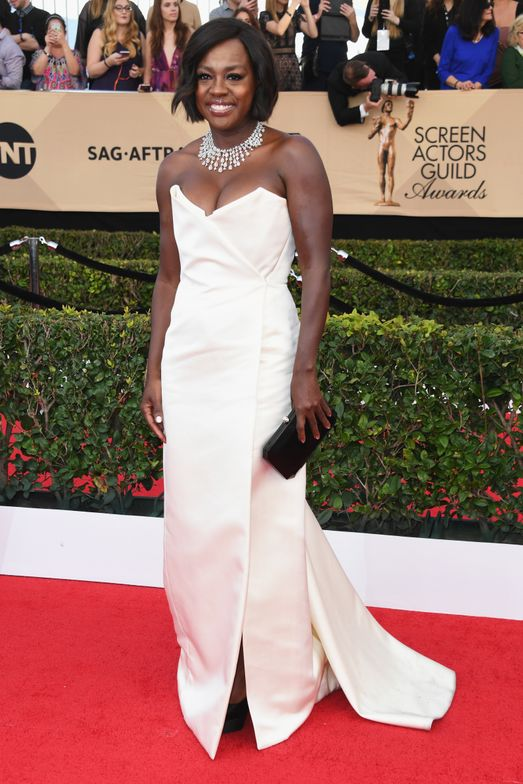 "<p><strong>VIOLA DAVIS, Inspiration: </strong>""To create a feminine yet edgy look, we chose Essie's <strong>penny talk</strong>, a statement-making copper metallic, to pop against Viola's structured white Vivienne Westwood gown,"" said Celebrity Manicurist, <strong>Julie Kandalec</strong>.</p>"
