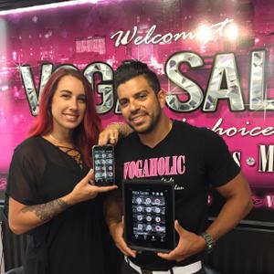 Ashlee and Armando Laya, owners of Voga Salon in Overland Park, Kansas.