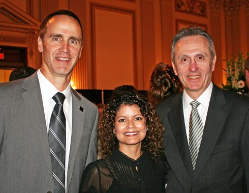 Steve Sleeper, PBA Executive Director;   Myra Irizarry, PBA Director of Government Affairs; Eric Schwartz, PBF President and OPI COO