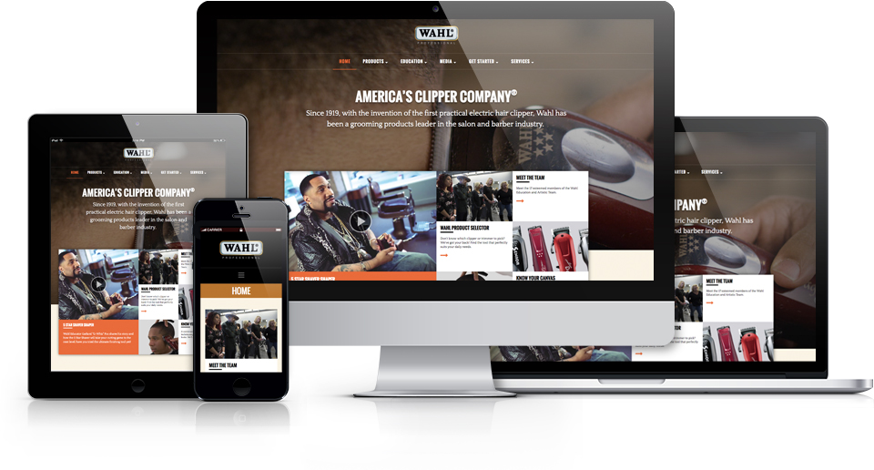 Wahl Professional's New Website Features an Interactive Product Selector and a Focus on Industry News
