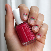 Nail How-To: Watermelon Nail Art from Essie