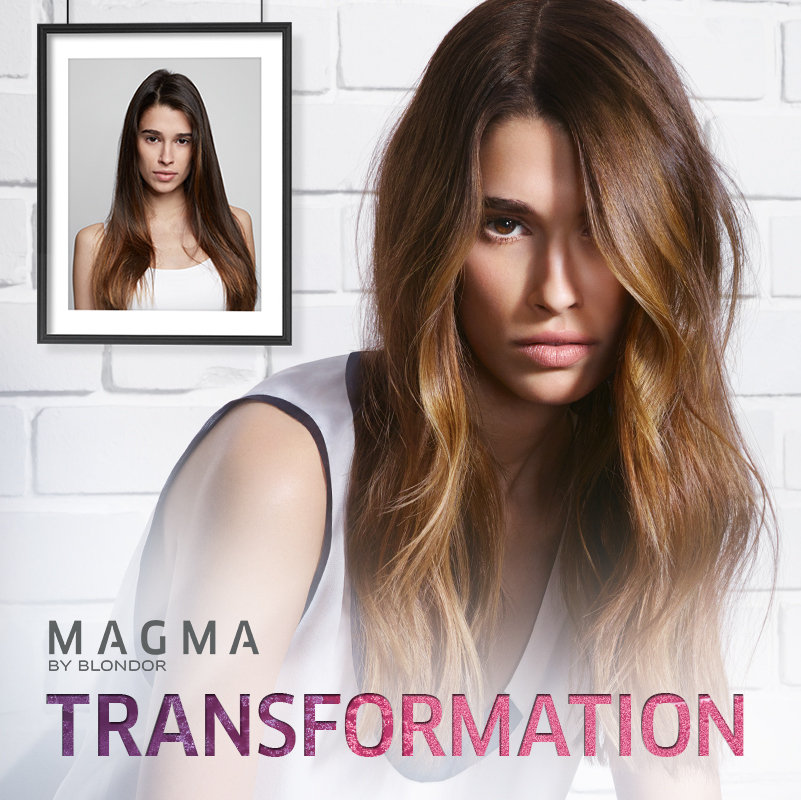 BEFORE and AFTER Magma by Blondor Transformation