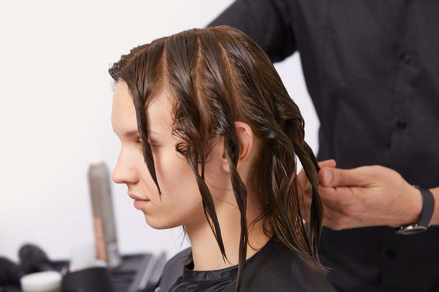 STEP 2 - Style: Twist the hair before you start drying.