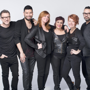 The Wella Studio team of educators, all in one place, gather for a photo opp: Diego Raviglione,...