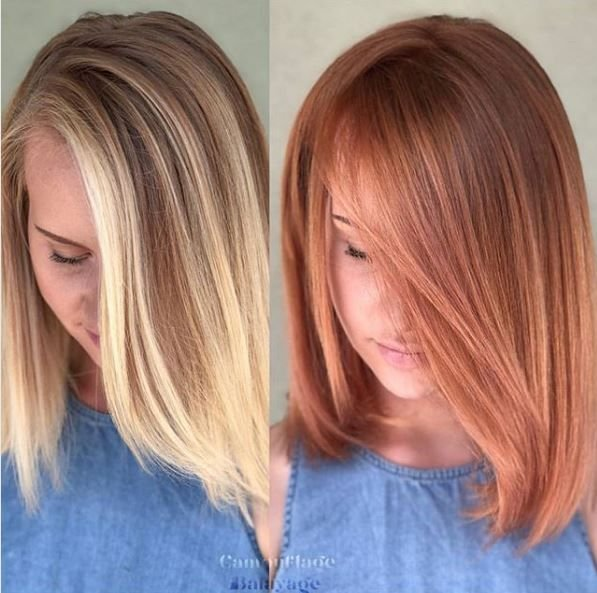 Who said blondes have more fun? We think a copper do is pretty fun, too! @camouflageandbalayage