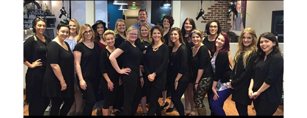 The team from Xanadu Hair Salon in Chesapeake, VA.